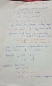 how to determine eigen values