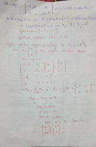 how to determine eigen values and eigen vectors