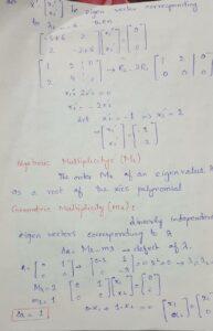 example of eigen values