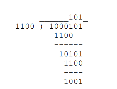 long binary division