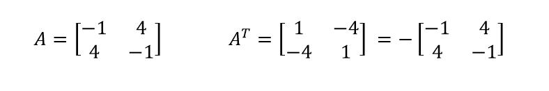 skew symmetric matrix