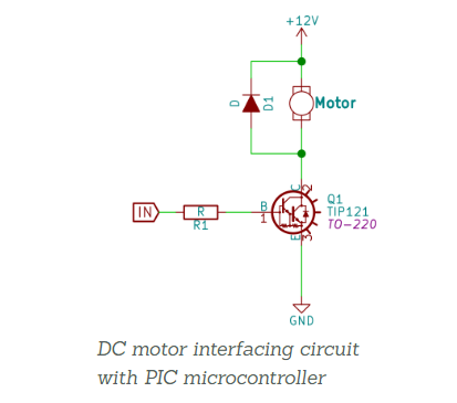 DC motor switching circuit