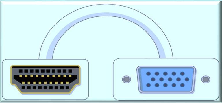 HDMI to VGA port adapter