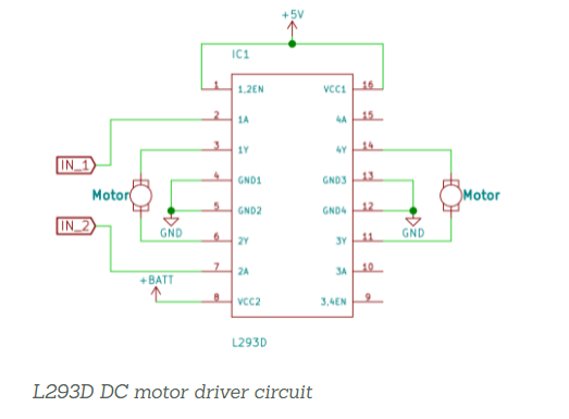 L293D driver IC