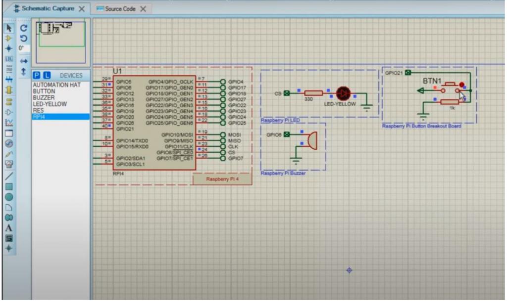 buzzer alarm circuit with pi