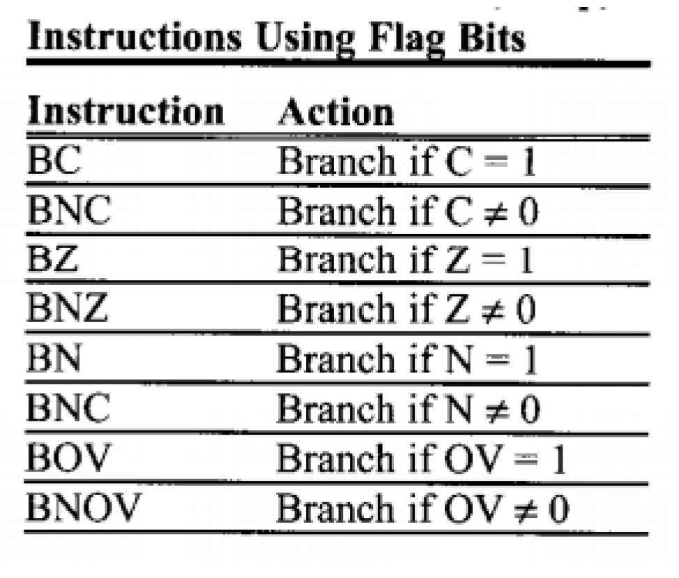 instructions using flags