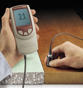 Ultrasonic gauge can measure the thickness of coatings on nonmetallic substrates.